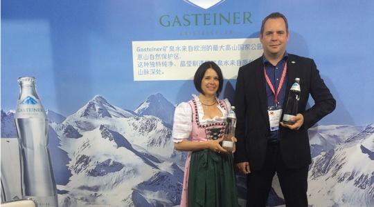 Barbara Lerchster-Papai und Daniel Benko auf der Hofex China 2015
