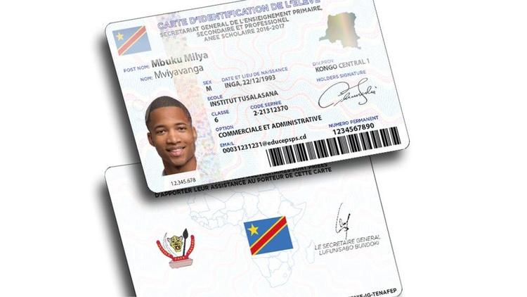 Foto einer Schüler-ID-Karte in Kongo