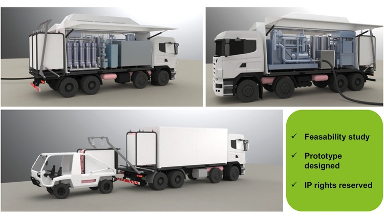 3D Modell des Arbeitsfahrzeuges