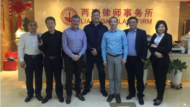 Speech Processing mit einer der führenden Kanzleien in Peking Jingsh Law Firm beim Meeting