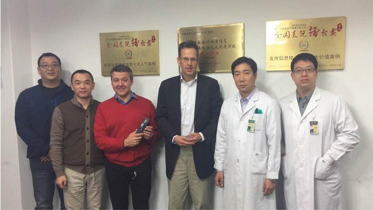 Michael Weis & Thomas Brauner von Speech Processing Solutions mit chinesischen Partnern
