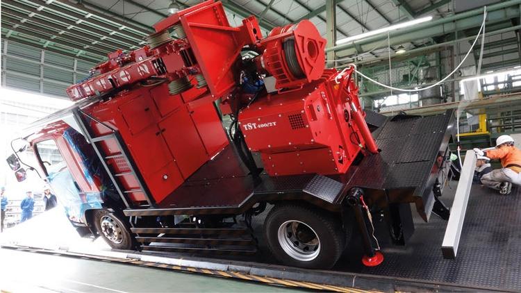 forstwirtschaftliches Fahrzeug in Steilhanglage