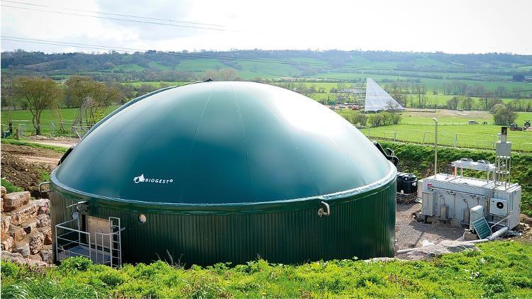 PowerCompact Biogasanlage Worthy Farm für das Glastonbury Festival in UK