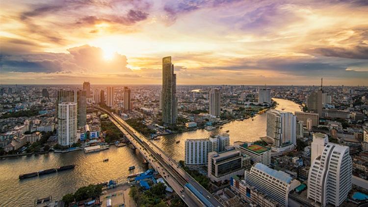 Luftaufnahme der Stadt Bangkok