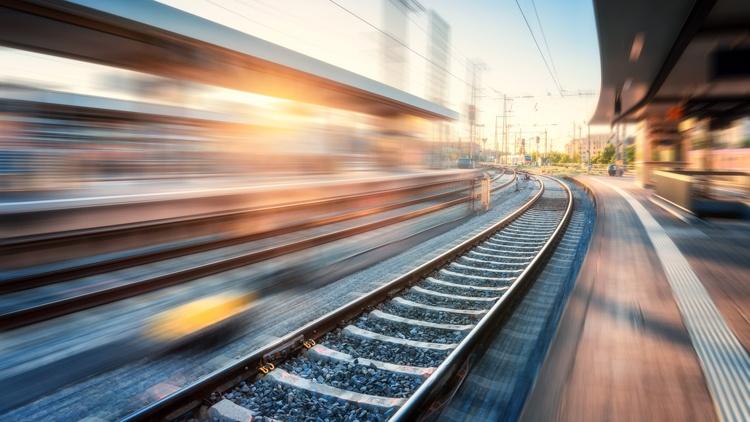 Bahnsteig und Gleise