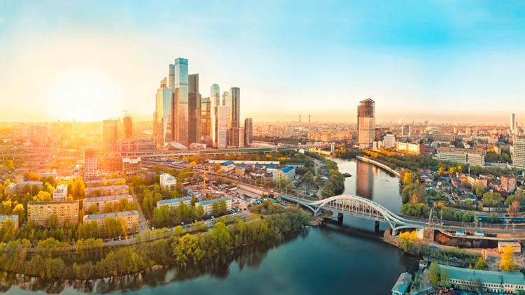 Luftaufnahme der Stadt Moskau