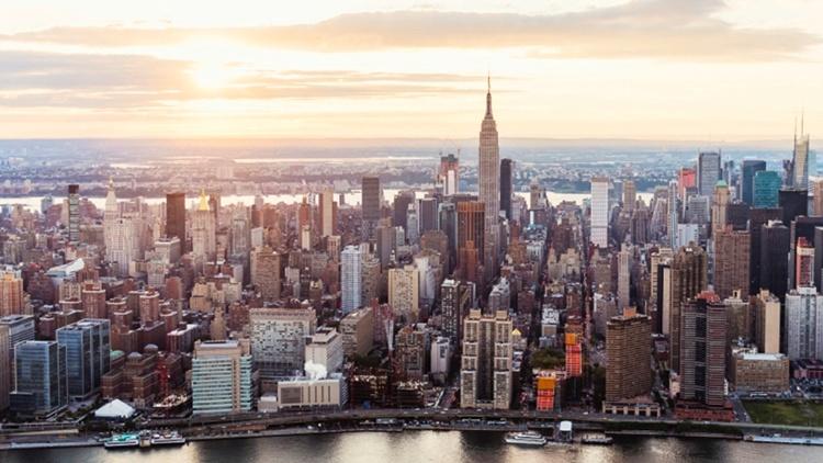 Luftaufnahme der Stadt New York