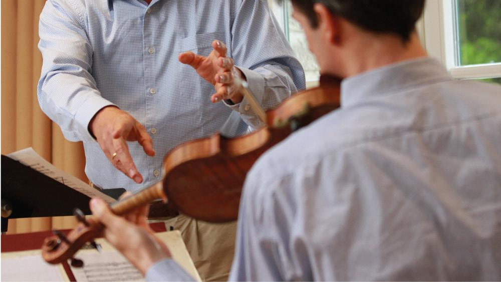 Dirigent und Violinist